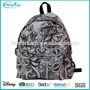 Printed fashion backpack bag for school teenagers