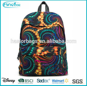 Cool design and fashion colorful vintage canvas backpack for teens