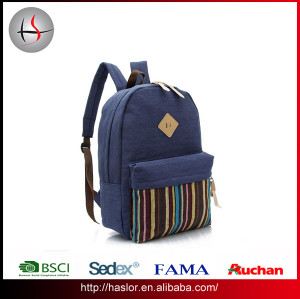 2016 custom student backpack sports canvas backpack