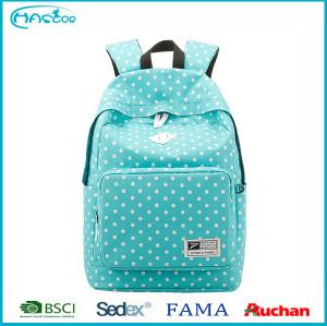 School Bag for Teenage Girls 2016 Fashio Girls Femininas Female Canvas Polka Dot Backpacks Double Shoulder