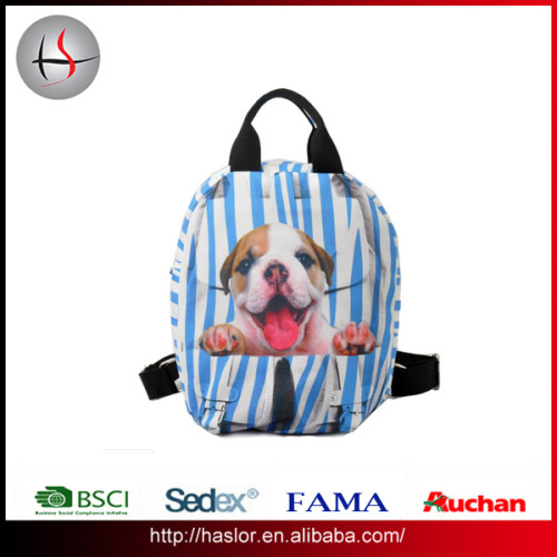 2016 papular fashion promotional canvas backpack