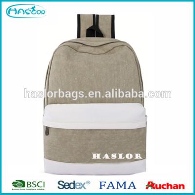 Haslor Hotselling mode personnalisé Casual toile sac à dos à l'école