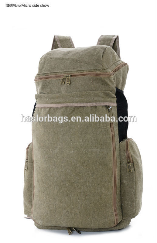 High -capacity and durable canvas hunting backpack with new style