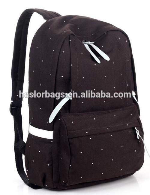 Canvas School Backpack Bag College Student