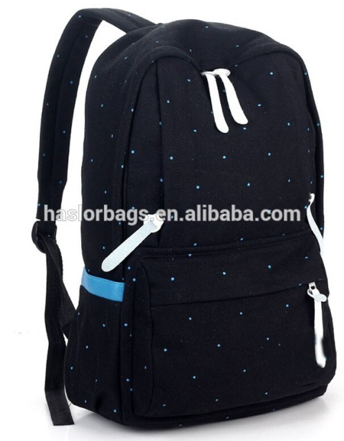 Hot Sale Cotton Canvas Backpack for Teenage Girls
