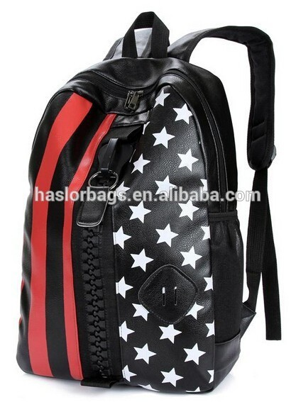 New Design of PU Fashion Backpack Big Zipper for Teens