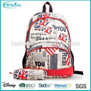 Fashion American Girl Backpacks with Pencil Bag