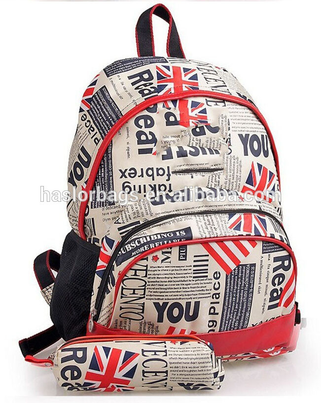 Fashion American Girl Backpacks with Pencil Bag