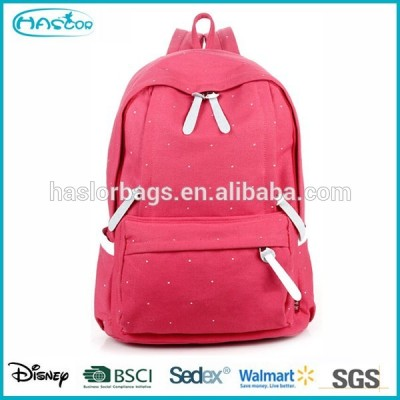 Pink Canvas Asian Backpacks for Teenage Girls