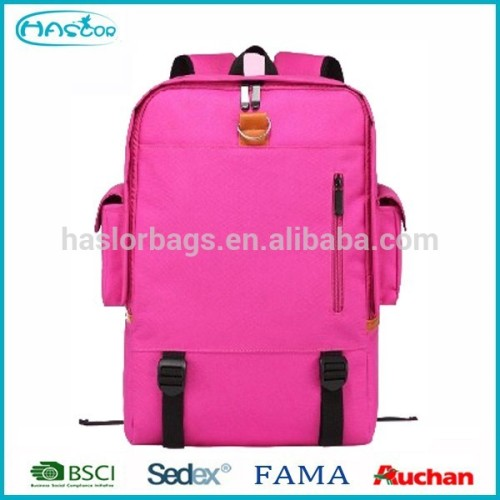 600D Fabric Grey Color Fashion Cheap Simple Backpack