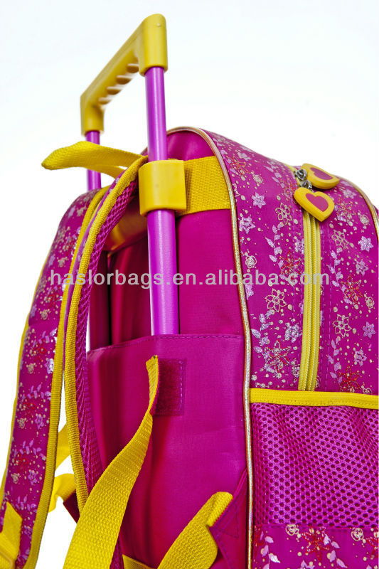 High Quality Little Girls Trolley Bag Backpack