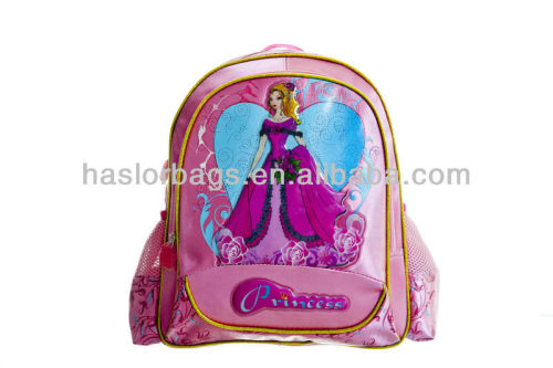 Polyester Satin Material Pink Schoolbag Special Backpacks Bags