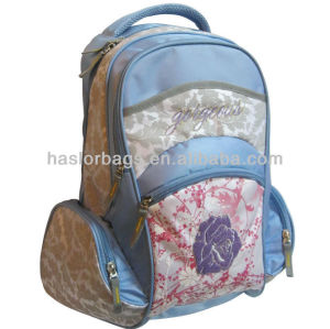 Light Color Polyester Fabric Summer School Bag