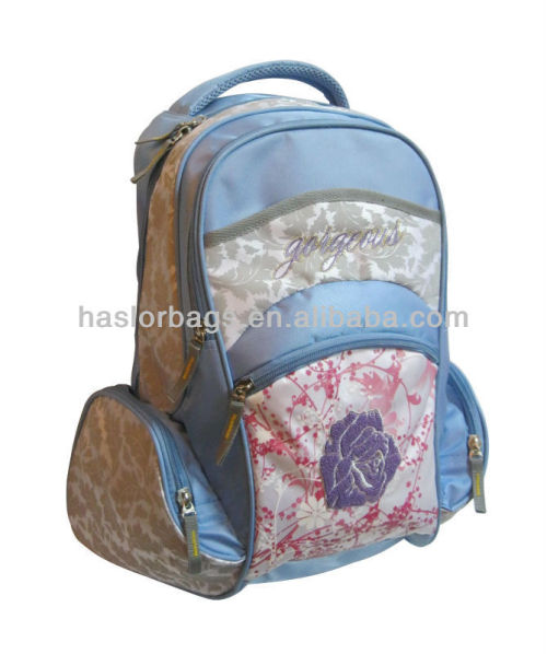 Light Color Polyester Fabric Summer School Bag