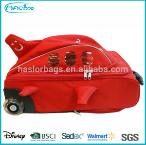 Kids Hot Selling Fancy Red Color Cute Plane Model Little Travel Bag,Wheeled School Bag
