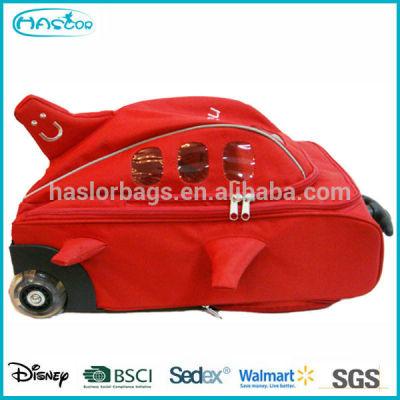 Enfants Hot vente fantaisie couleur rouge mignon avion modèle petit sac de voyage, Sac d'école sur roues
