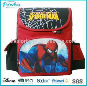Red Polyester Unique Cute Backpack Spider Man Fashion Child School Bag