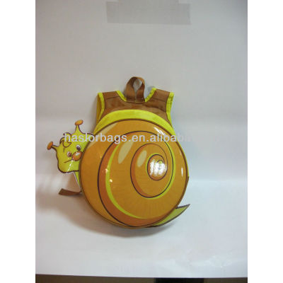 2013 New Arrival ! Snail Shaped New Design Kids School Bag