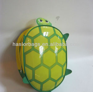 Bright Green Color Tortoise Shaped Kids Backpack