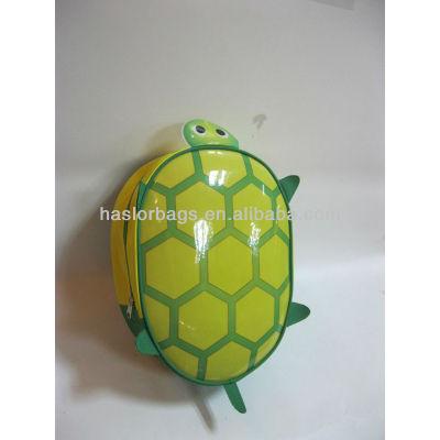 Bright Green Color Tortoise Shaped Kids Backpack