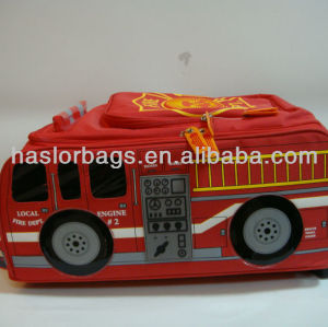 Bus Shaped Design Bright Red Shool Bag