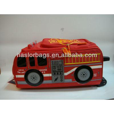 Bus Shaped Design Bright Red Shool Bag