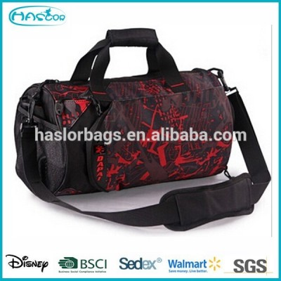 Sport Round Travel Bag with Shoe Compartment