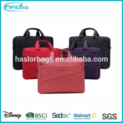Custom lady laptop messenger bag with BSCI Audit