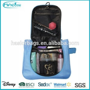 Beauty lady hanging fashion cosmetic bag with BSCI audits