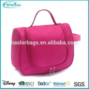Colorful womens toilet bag with hook for travel