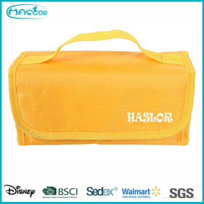 Wholesale waterproof PVC promotional cheap folding cosmetic bag