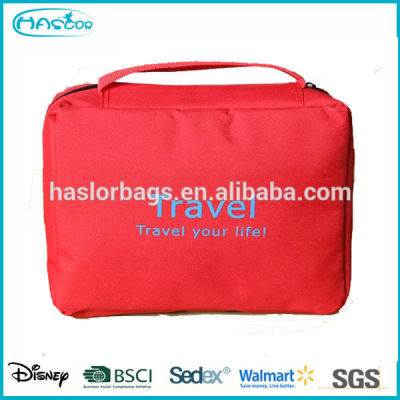 2015 easy to fold and carry wholesale custom cosmetic bag