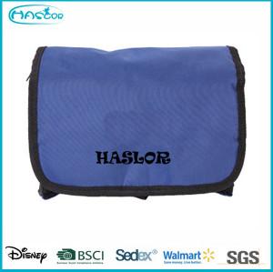 Custom folding waterproof nylon small basics cosmetic bag wholesale