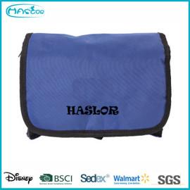 Personnalisé pliage nylon imperméable petit basics sac cosmétique gros