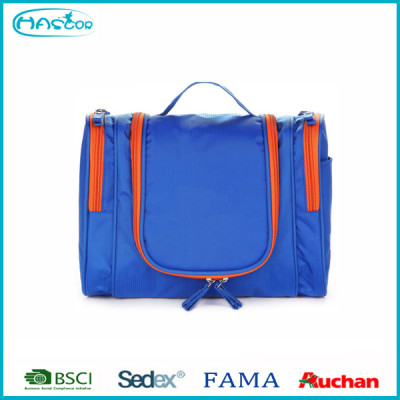 Wholesale fashion nylon folding contents cosmetic bag multi pocket for travel