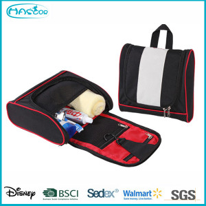 Wholesale custom hanging contents cosmetic bag with compartments