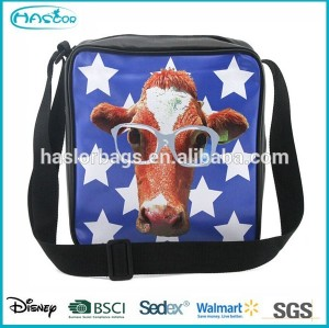 College Boys Shoulder Bags with Animal Printing