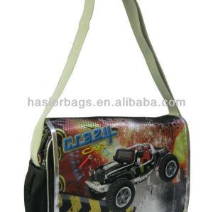 Car Printing Stylish School Bag Adjustable Shoulder Strap Messenger Bag
