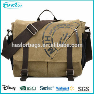 Waterproof high quality canvas popular mens canvas shoulder bag