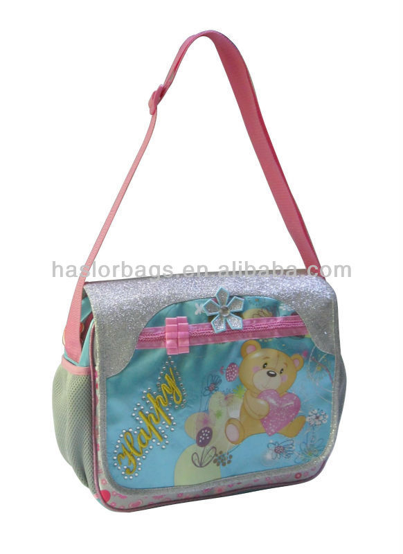 Fashion School Bags 2014 for Girls Messenger Bag for Kids from China School Bag Manufacturer