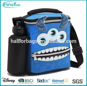 Cheap kids school lunch bag with side bottle pocket