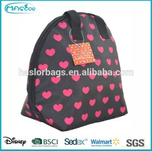 2015 Lovely Heart Printing Picnic Cooler Box for Promotion