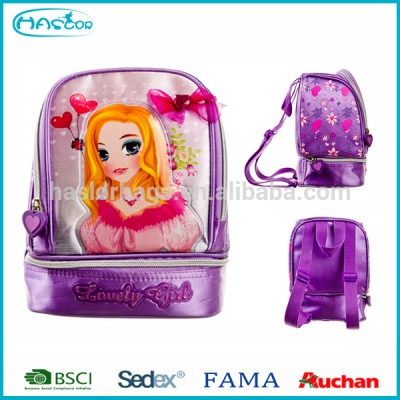 school fashion wholesale children lunch bag with PEVA liner