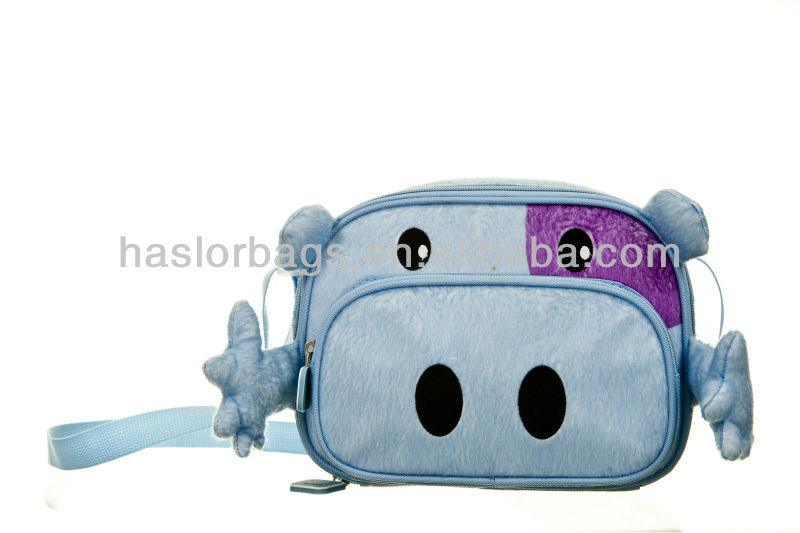 Cute and Fashion Blue Felt Lunch Bags for children