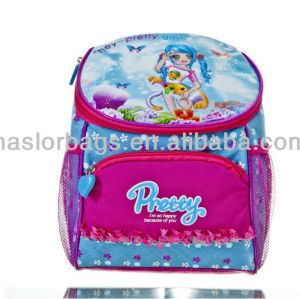 Very Beautiful Blue Color School Lunch Bag Small Cooler Bag Backpack