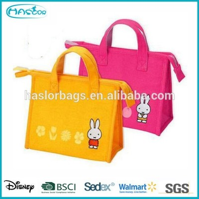 Pink Foldable Lunch Bag Food Warmer for Kids
