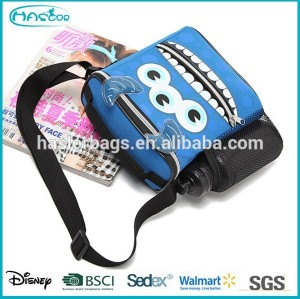 Children school lunch cooler bag with drink holder