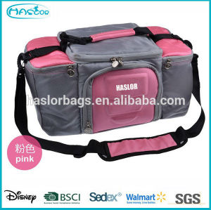 2015 China wholesale custom zippered thermal lunch bag for office