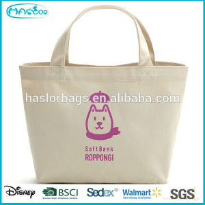 2015 Hot selling durable canvas lunch bag for office