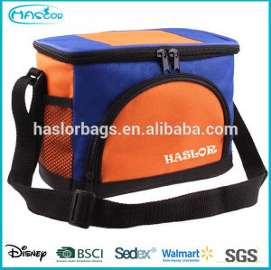 Wholesale custom zippered thermal insulated cooler bag for beer bottle